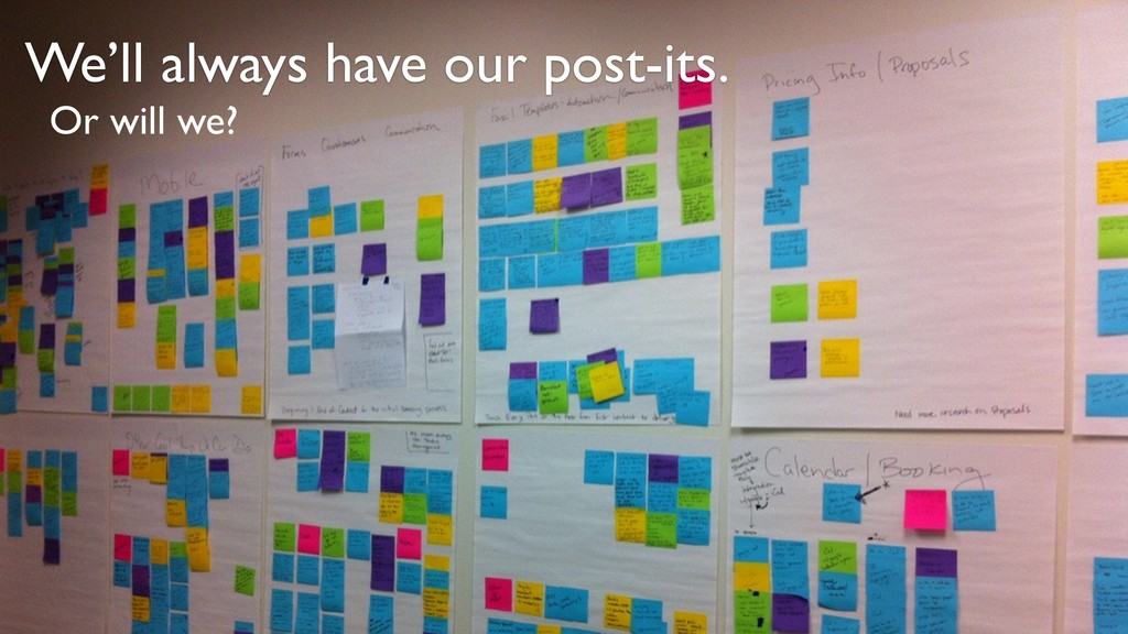 We'll always have our post-its. Or will we?