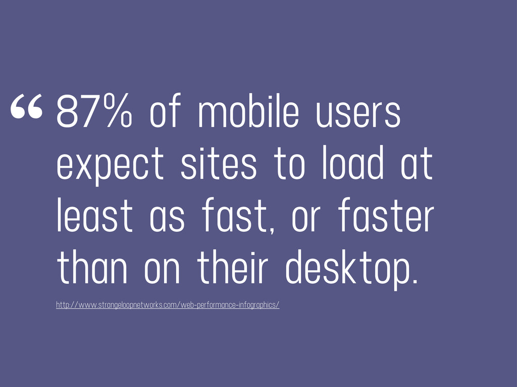 87% of mobile users expect sites to load at lea...