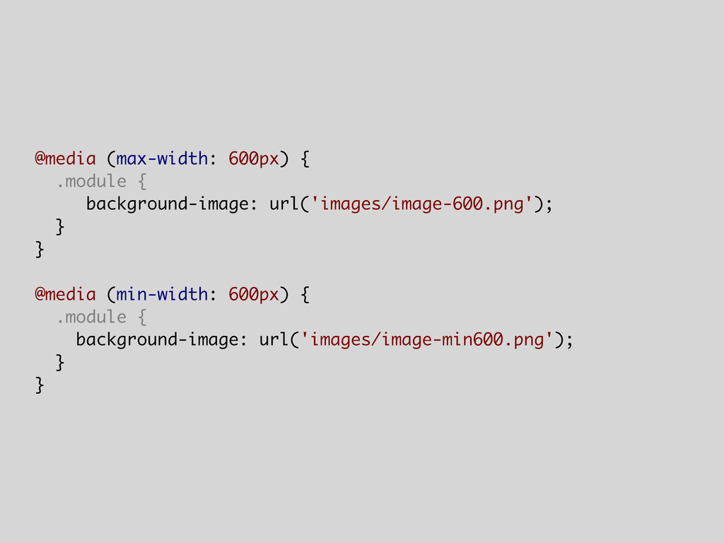 @media (max-width: 600px) { .module { backgroun...