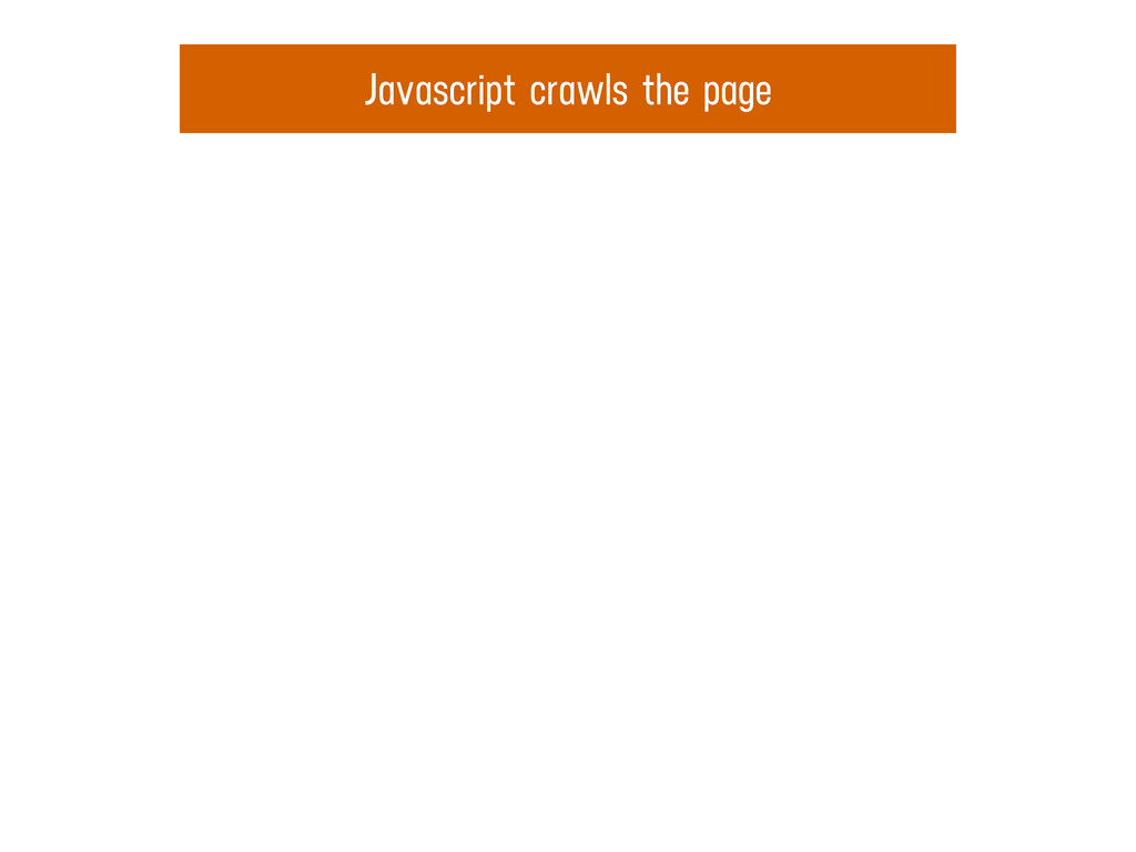 Javascript crawls the page