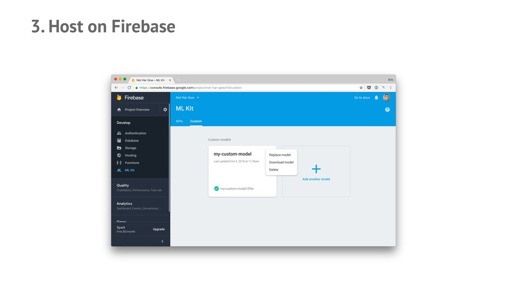 3. Host on Firebase