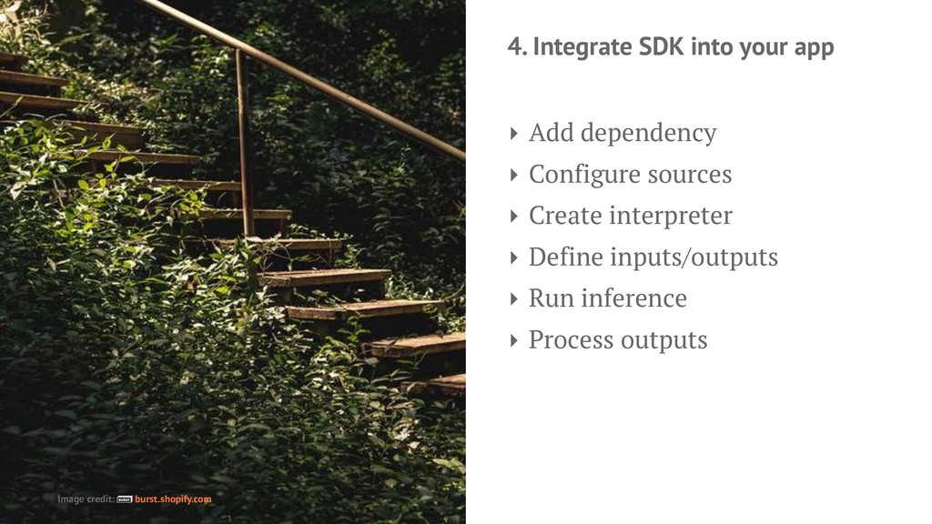 4. Integrate SDK into your app ‣ Add dependency...