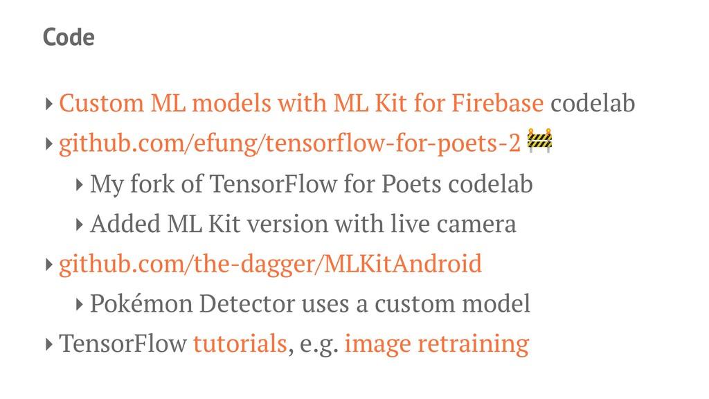 Code ‣ Custom ML models with ML Kit for Firebas...