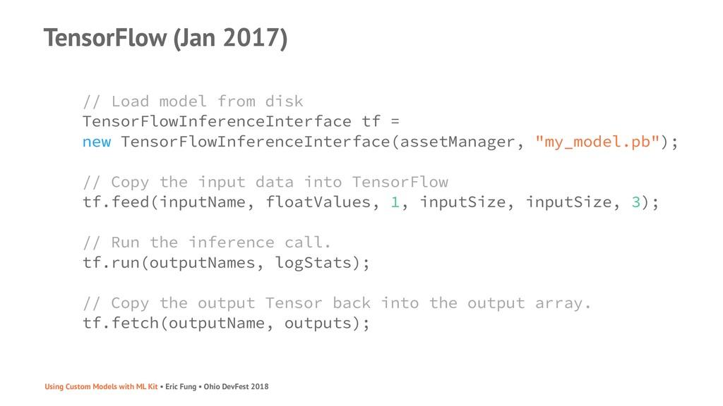 TensorFlow (Jan 2017) // Load model from disk T...