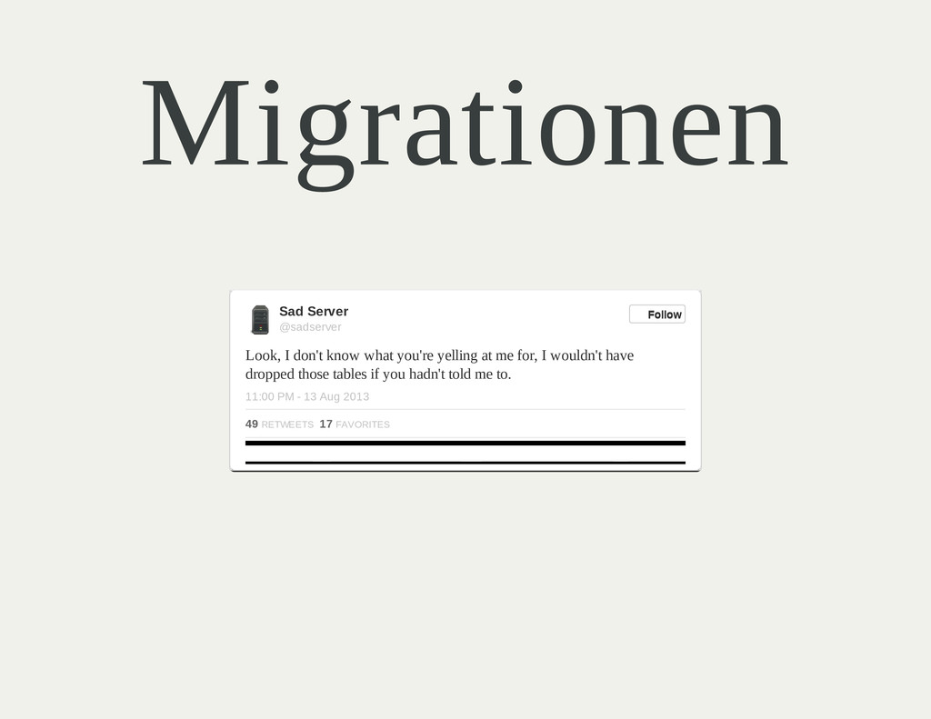 Migrationen Look, I don't know what you're yell...