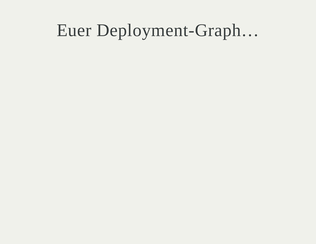 Euer Deployment-Graph…