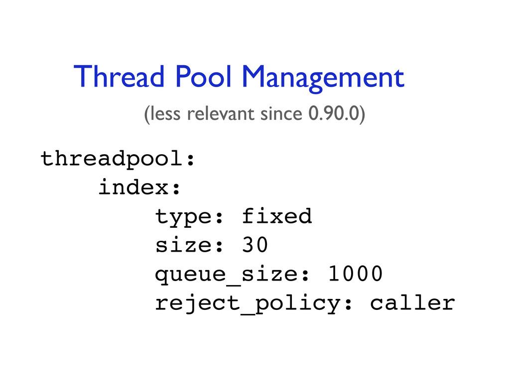 threadpool: index: type: fixed size: 30 queue_s...
