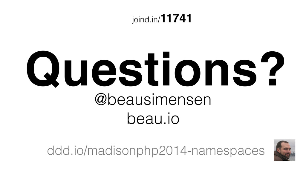 joind.in/11741 Questions? @beausimensen beau.io...