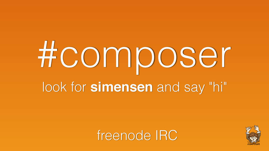 "#composer look for simensen and say ""hi"" freeno..."