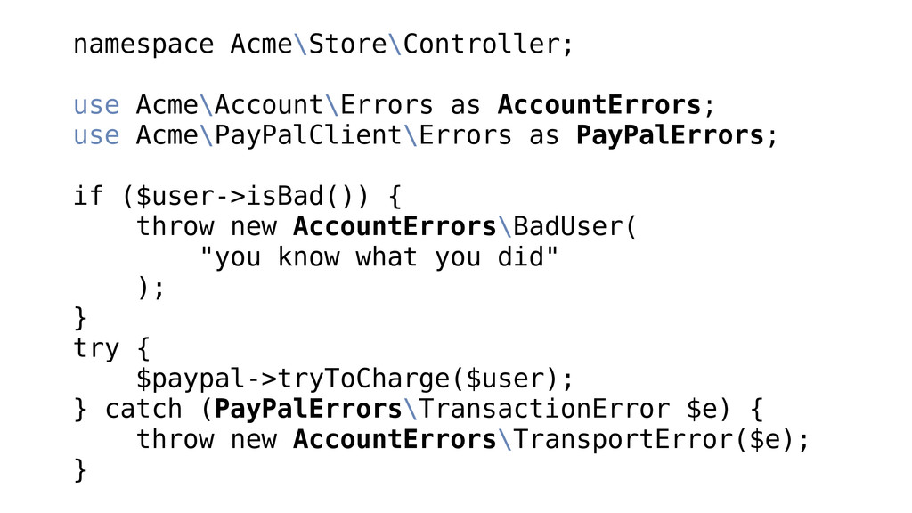 namespace Acme\Store\Controller; ! use Acme\Acc...