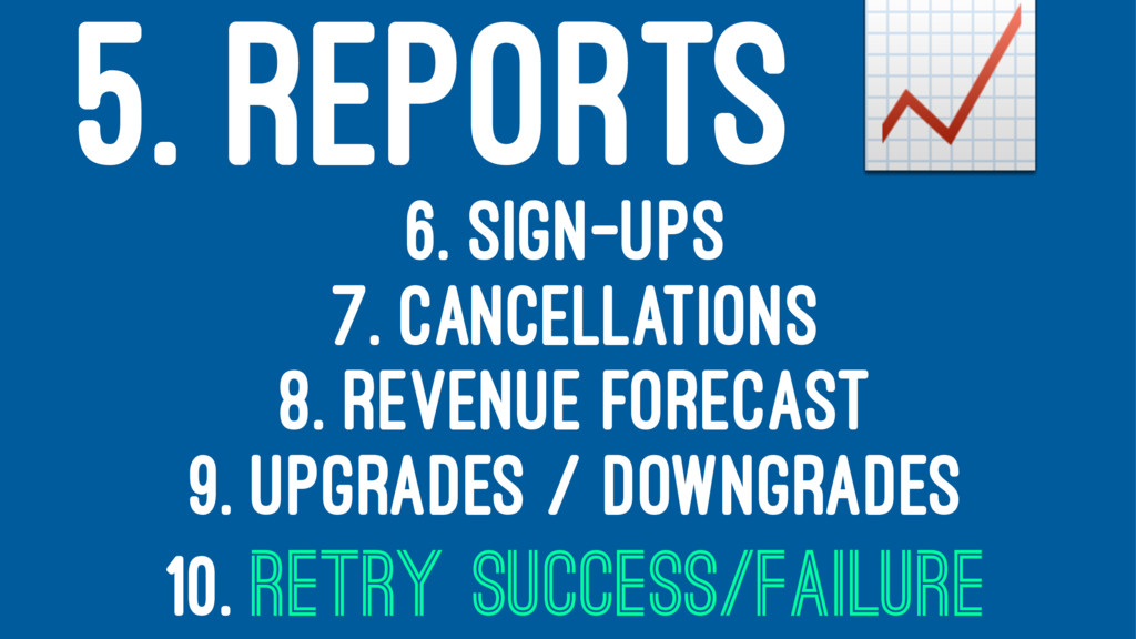 5. REPORTS ! 6. SIGN-UPS 7. CANCELLATIONS 8. RE...
