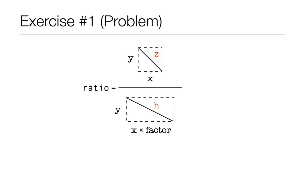 Exercise #1 (Problem) x y z x ₒ factor y h rati...