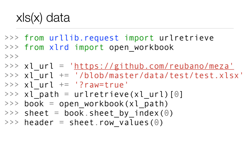 xls(x) data >>> from urllib.request import urlr...