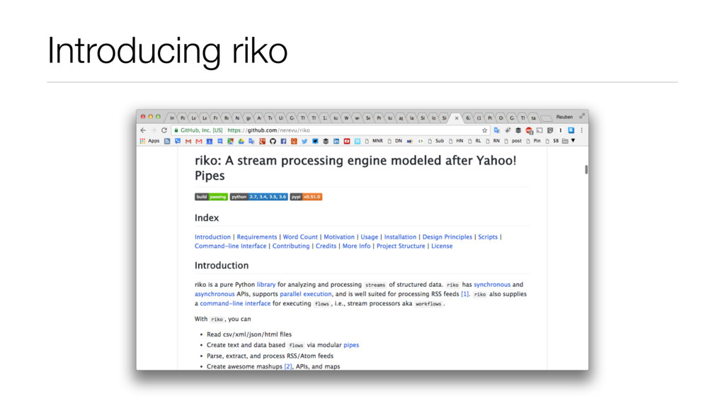 Introducing riko