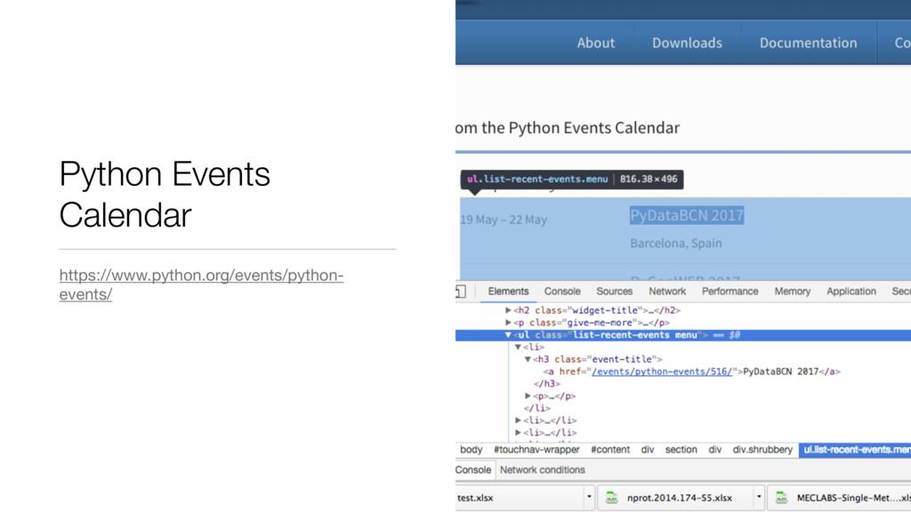 Python Events Calendar https://www.python.org/e...
