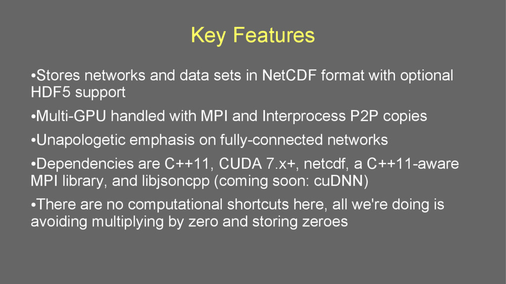 Key Features ● Stores networks and data sets in...