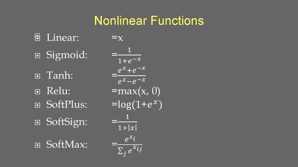 Nonlinear Functions 