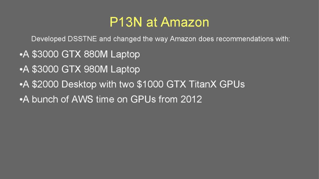 P13N at Amazon ● A $3000 GTX 880M Laptop ● A $3...