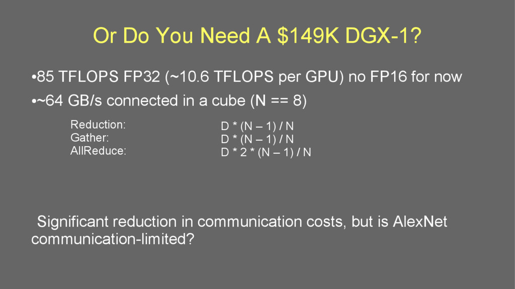 Or Do You Need A $149K DGX-1? ● 85 TFLOPS FP32 ...
