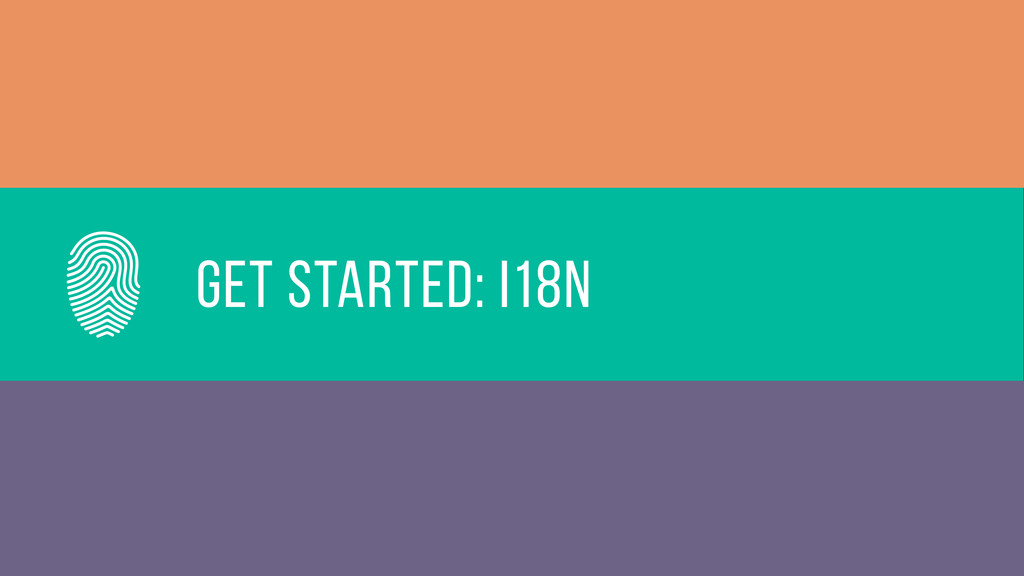Get started: i18n