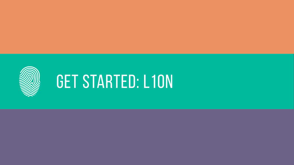Get started: L10n