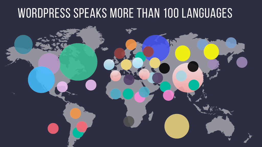WordPress speaks more than 100 languages