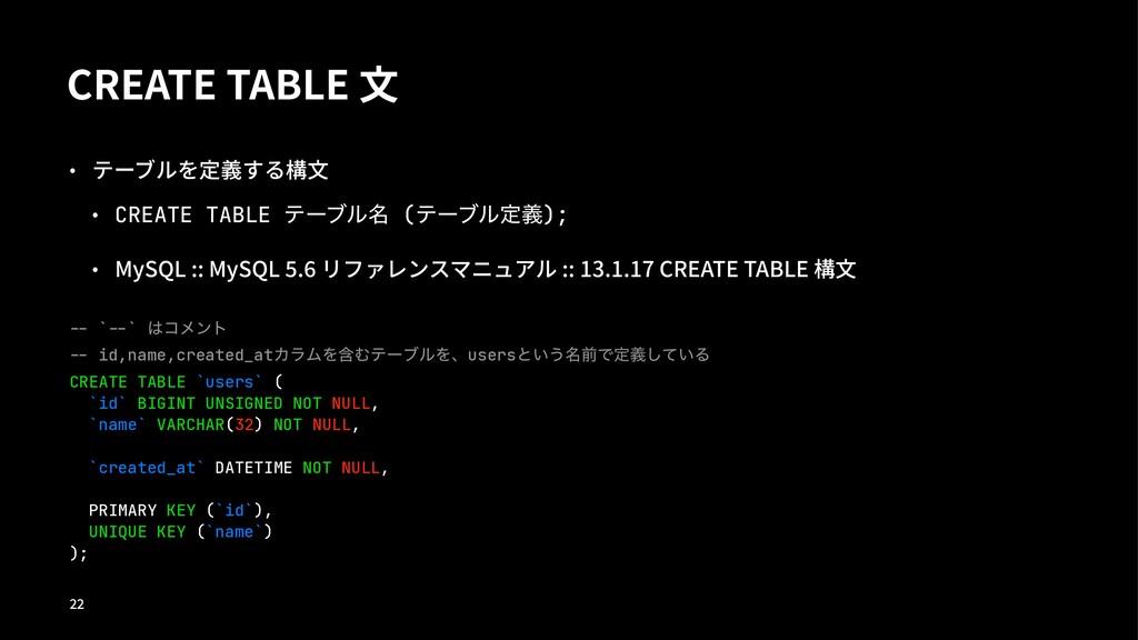 """$3&""""5&5""""#-&乃 ˝ ط٭هٜ㲊紶啶乃 ˝ CREATE TABLE ςʔϒ..."""