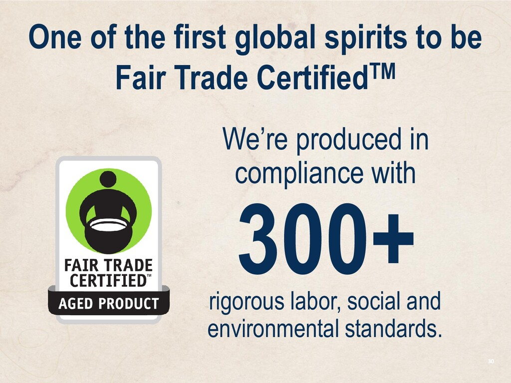 30 We're produced in compliance with 300+ rigor...
