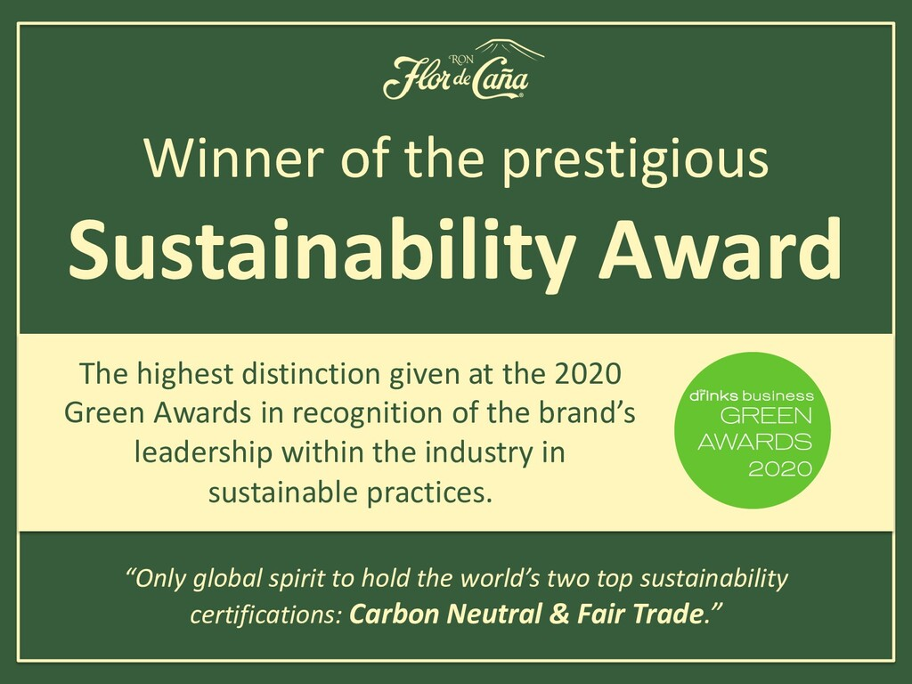 Winner of the prestigious Sustainability Award ...
