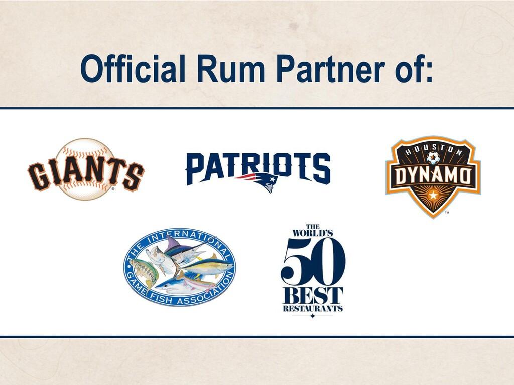Official Rum Partner of: