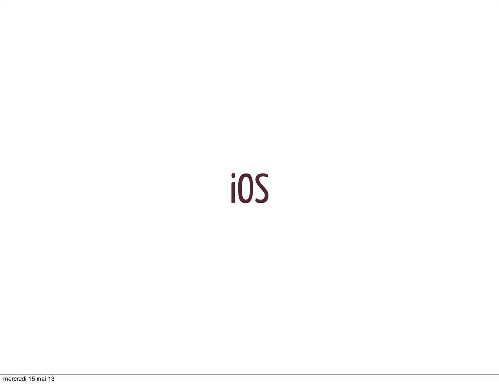 iOS mercredi 15 mai 13