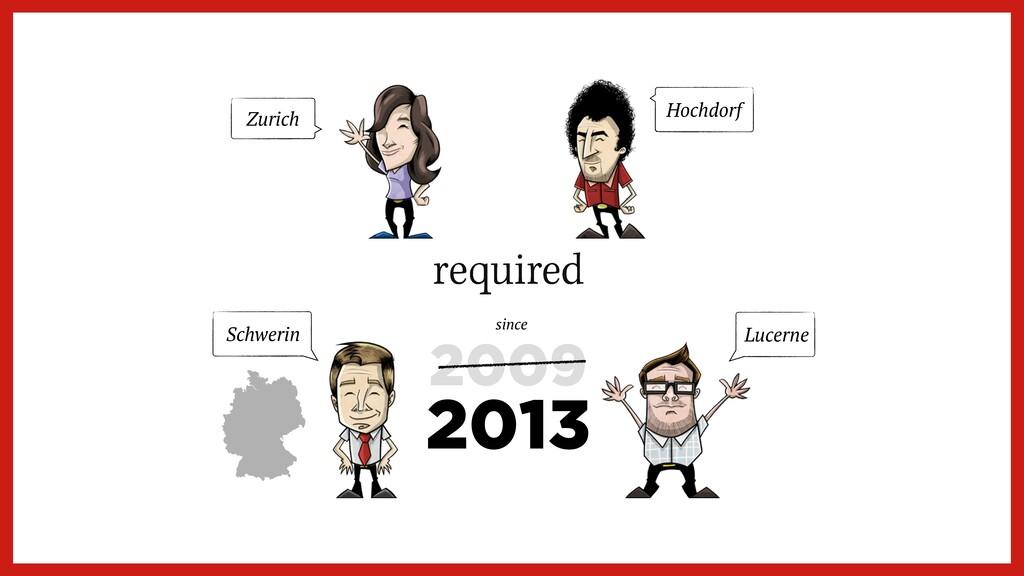 2009 Zurich Schwerin Lucerne Hochdorf 2013 since