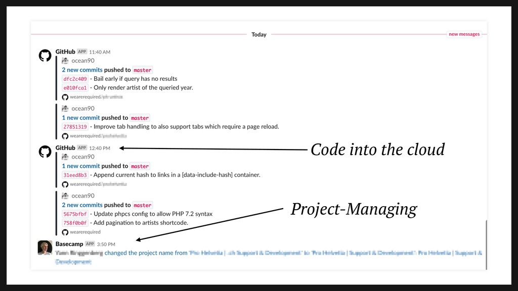 Code into the cloud Project-Managing