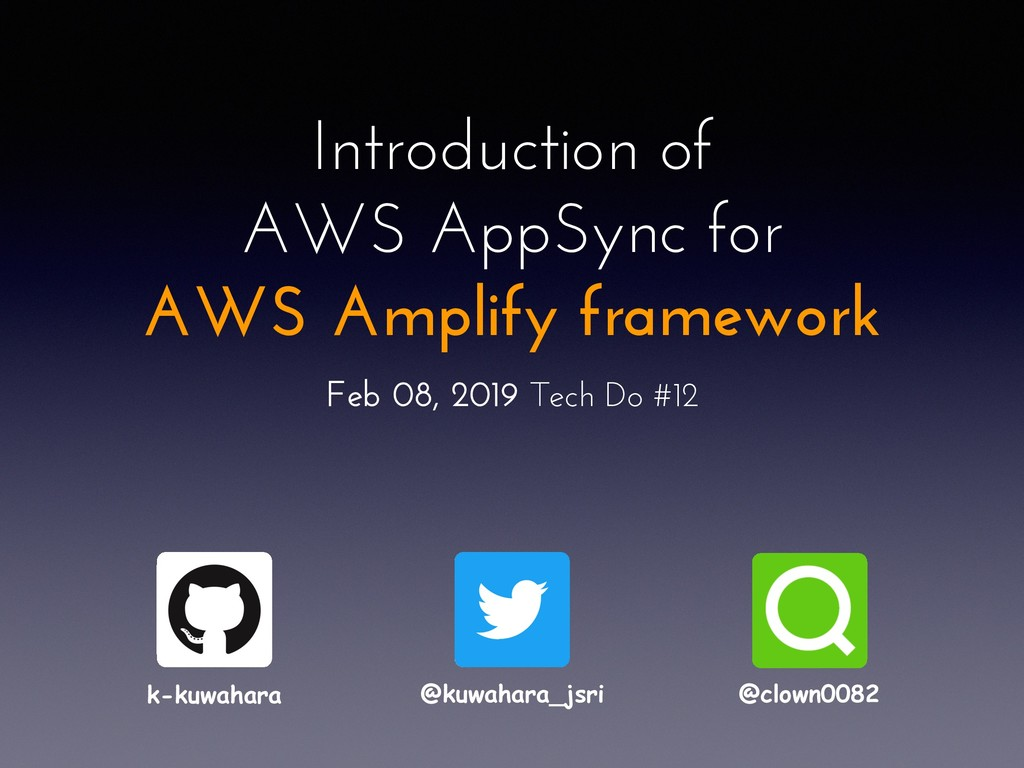 Introduction of AWS AppSync for AWS Amplify fra...