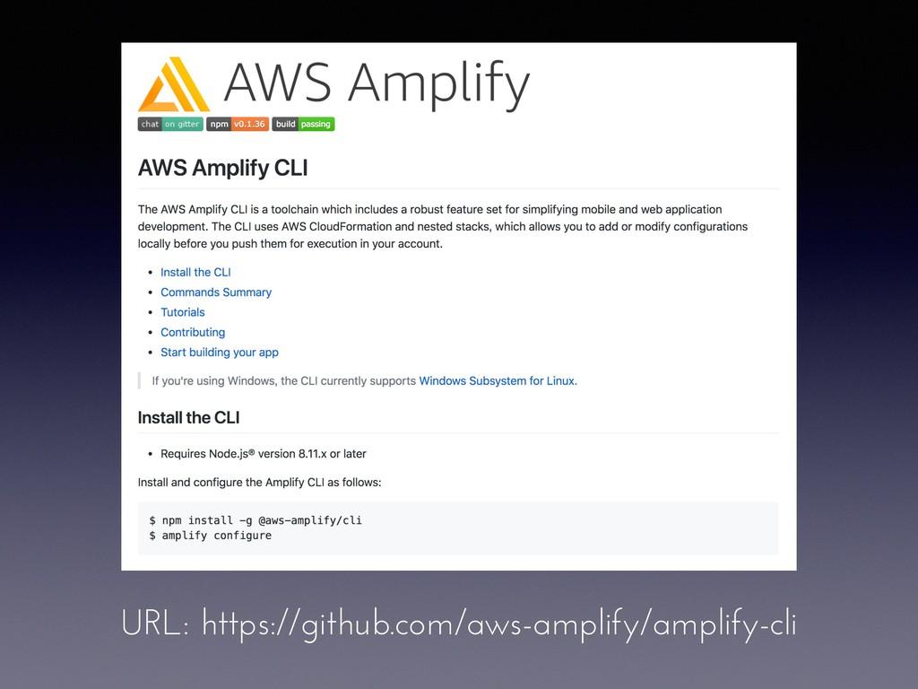 URL: https://github.com/aws-amplify/amplify-cli