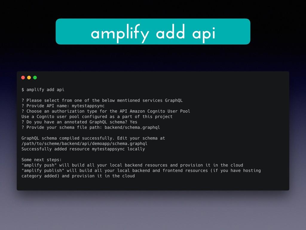 amplify add api
