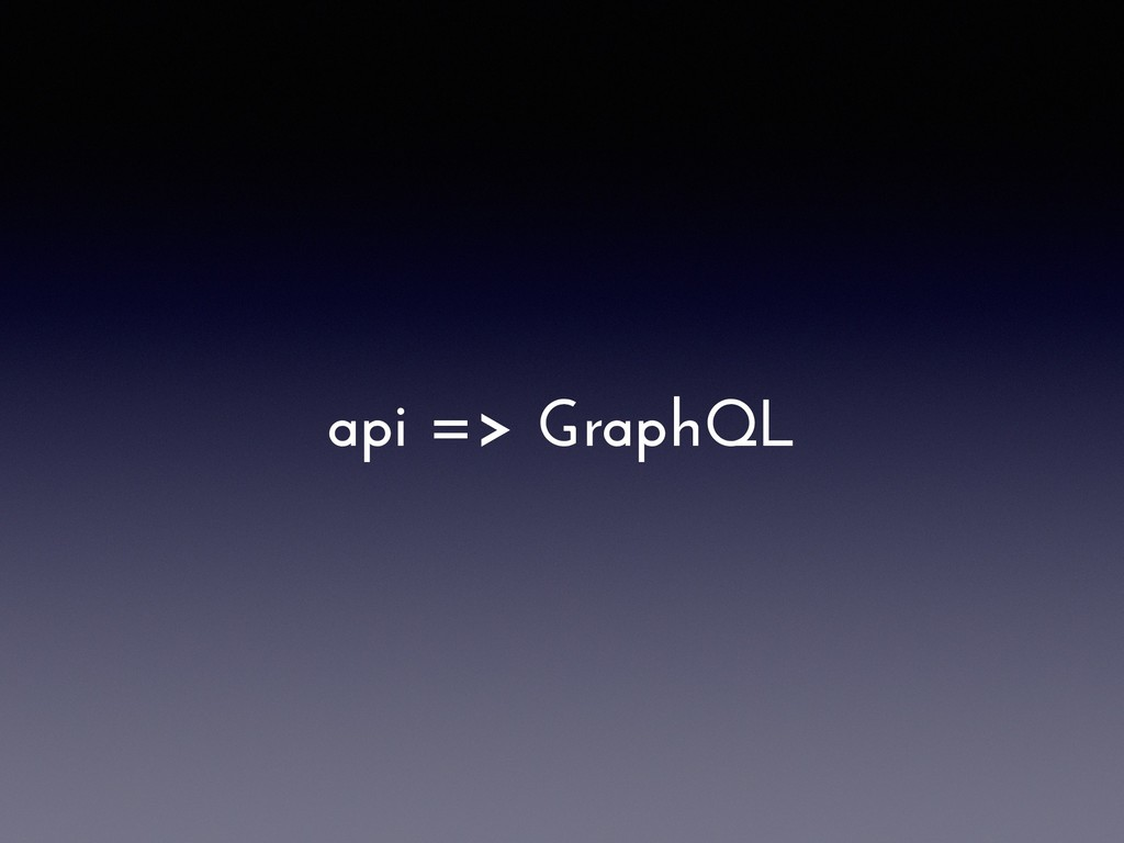 api => GraphQL