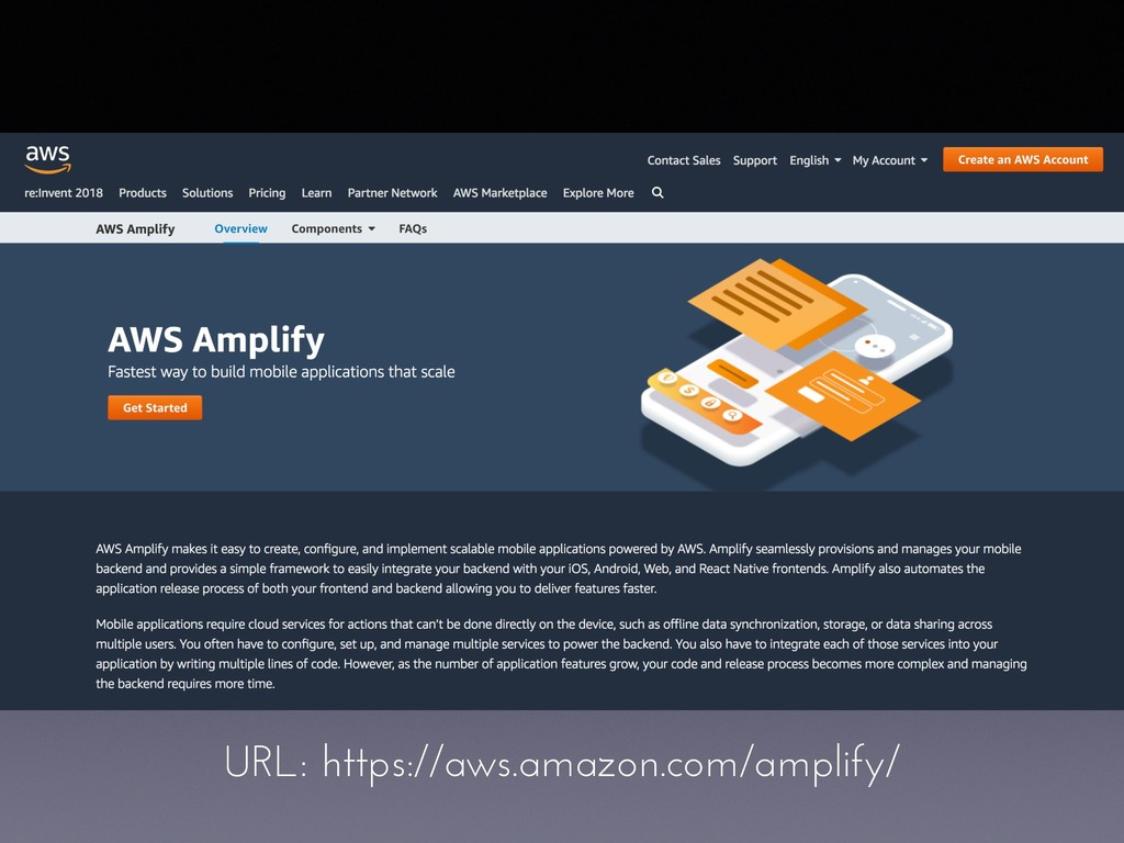 URL: https://aws.amazon.com/amplify/