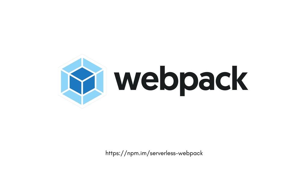 https://npm.im/serverless-webpack