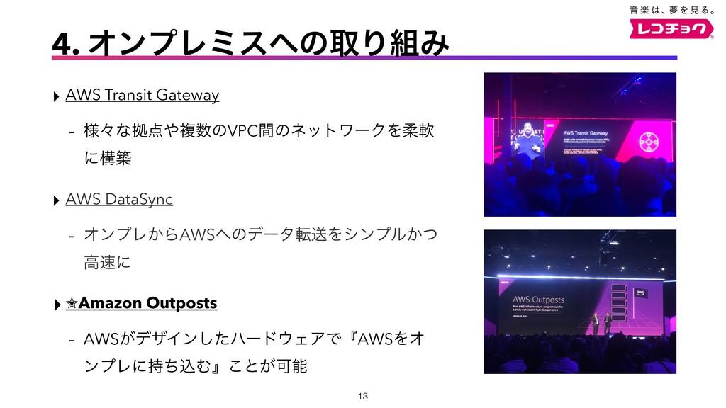 ‣ AWS Transit Gateway - ༷ʑͳڌෳͷVPCؒͷωοτϫʔΫΛॊೈ...