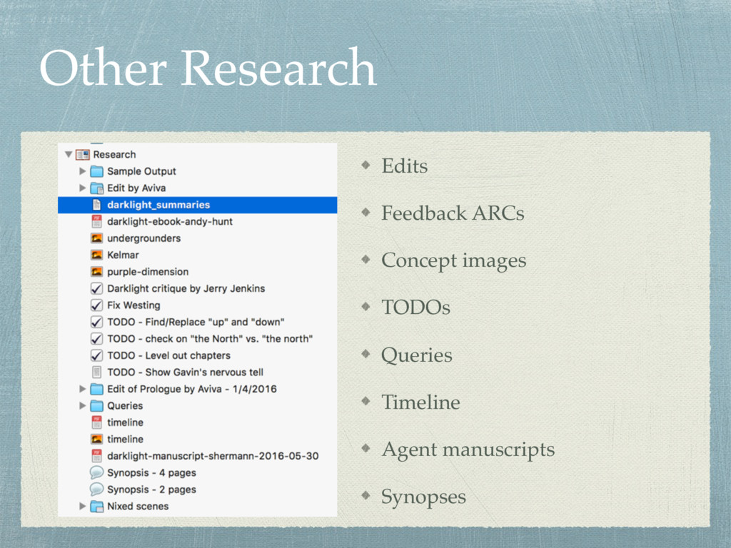 Other Research Edits Feedback ARCs Concept imag...