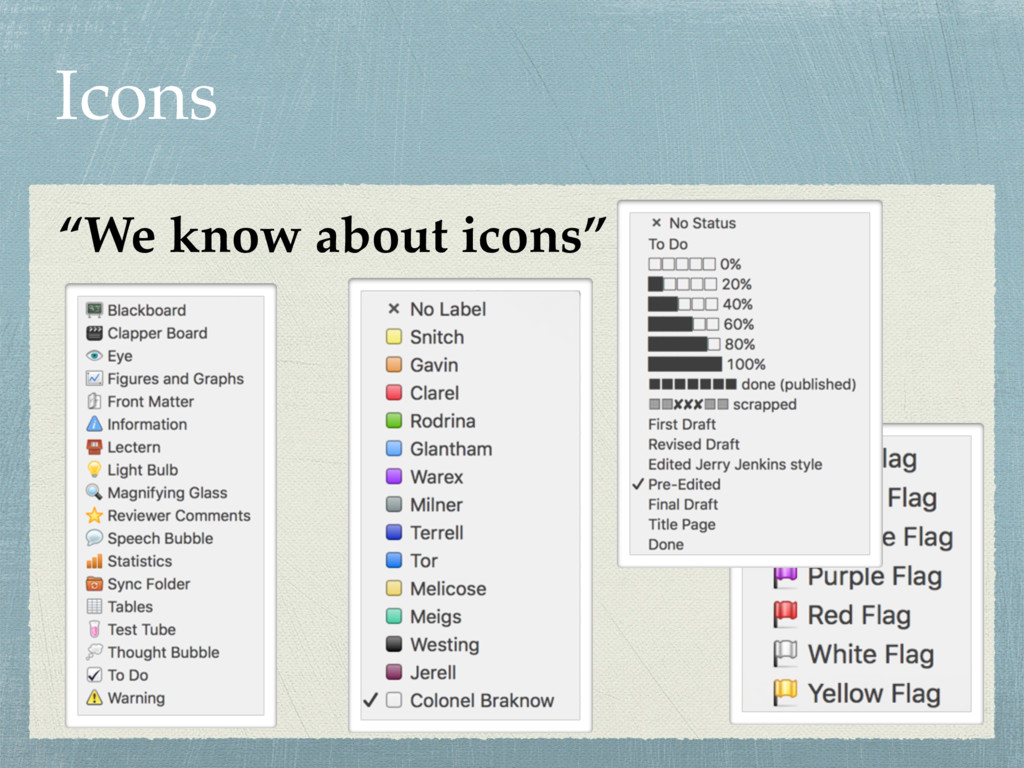 """Icons """"We know about icons"""""""
