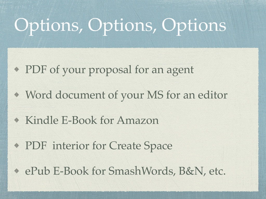 Options, Options, Options PDF of your proposal ...
