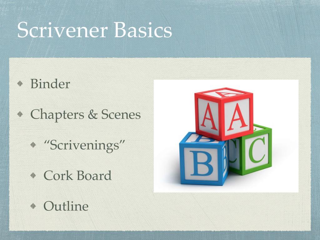 "Scrivener Basics Binder Chapters & Scenes ""Scri..."