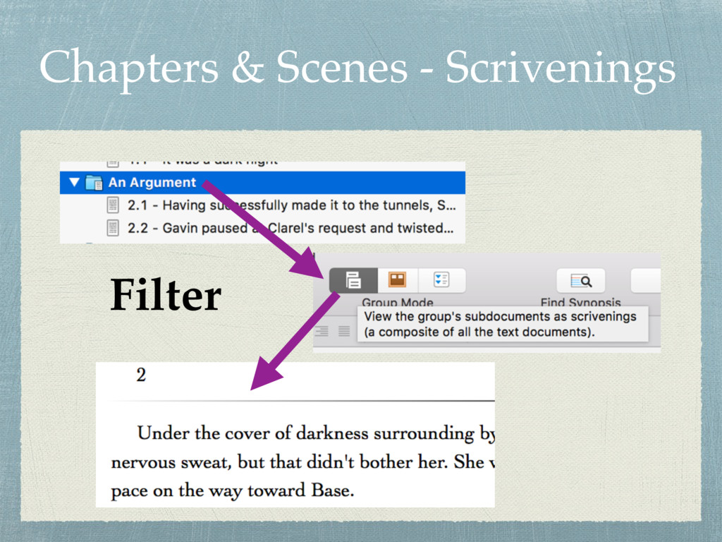 Chapters & Scenes - Scrivenings Filter