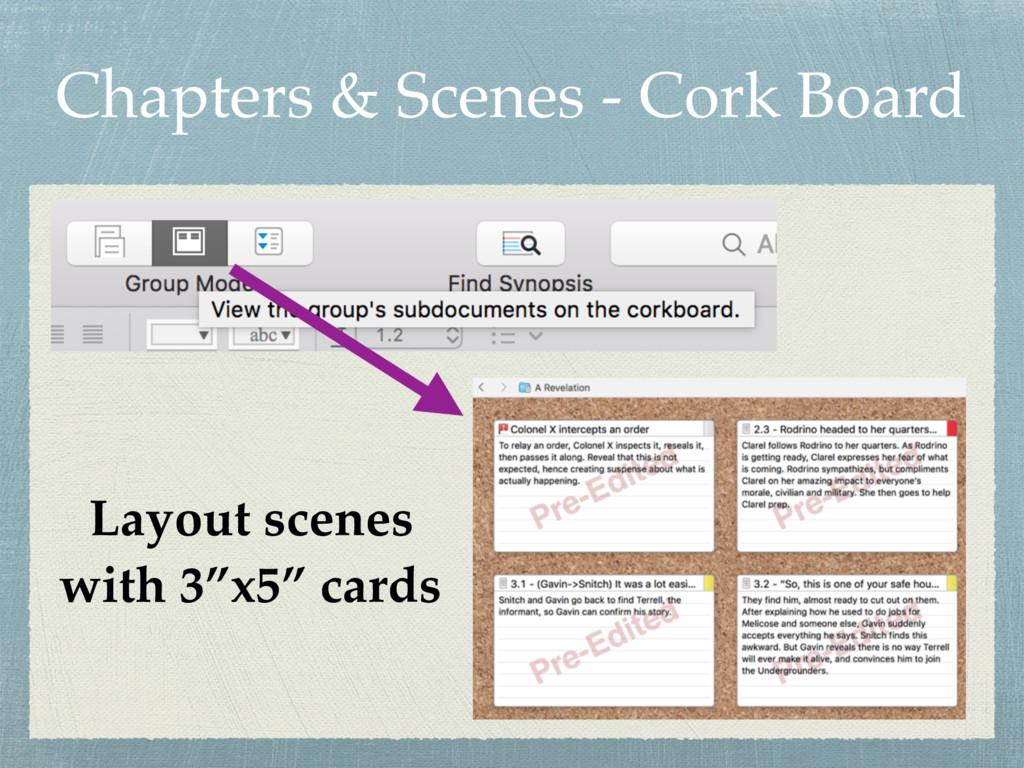 Chapters & Scenes - Cork Board Layout scenes wi...