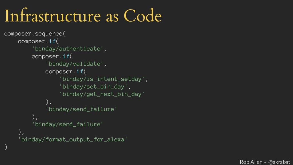 Infrastructure as Code composer.sequence( compo...
