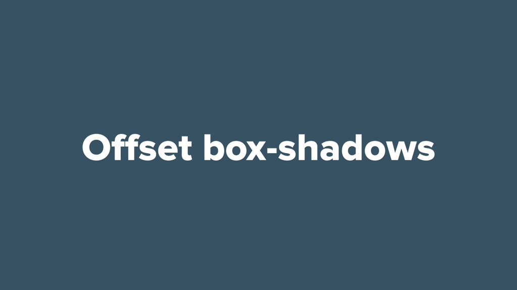 Offset box-shadows