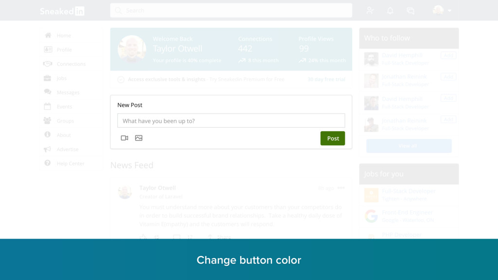 Change button color r