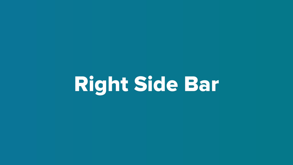 Right Side Bar